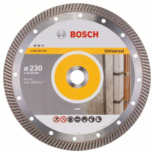 Круг алмазный Bosch Expert for universal turbo 230x22 турбо (2.608.602.578)