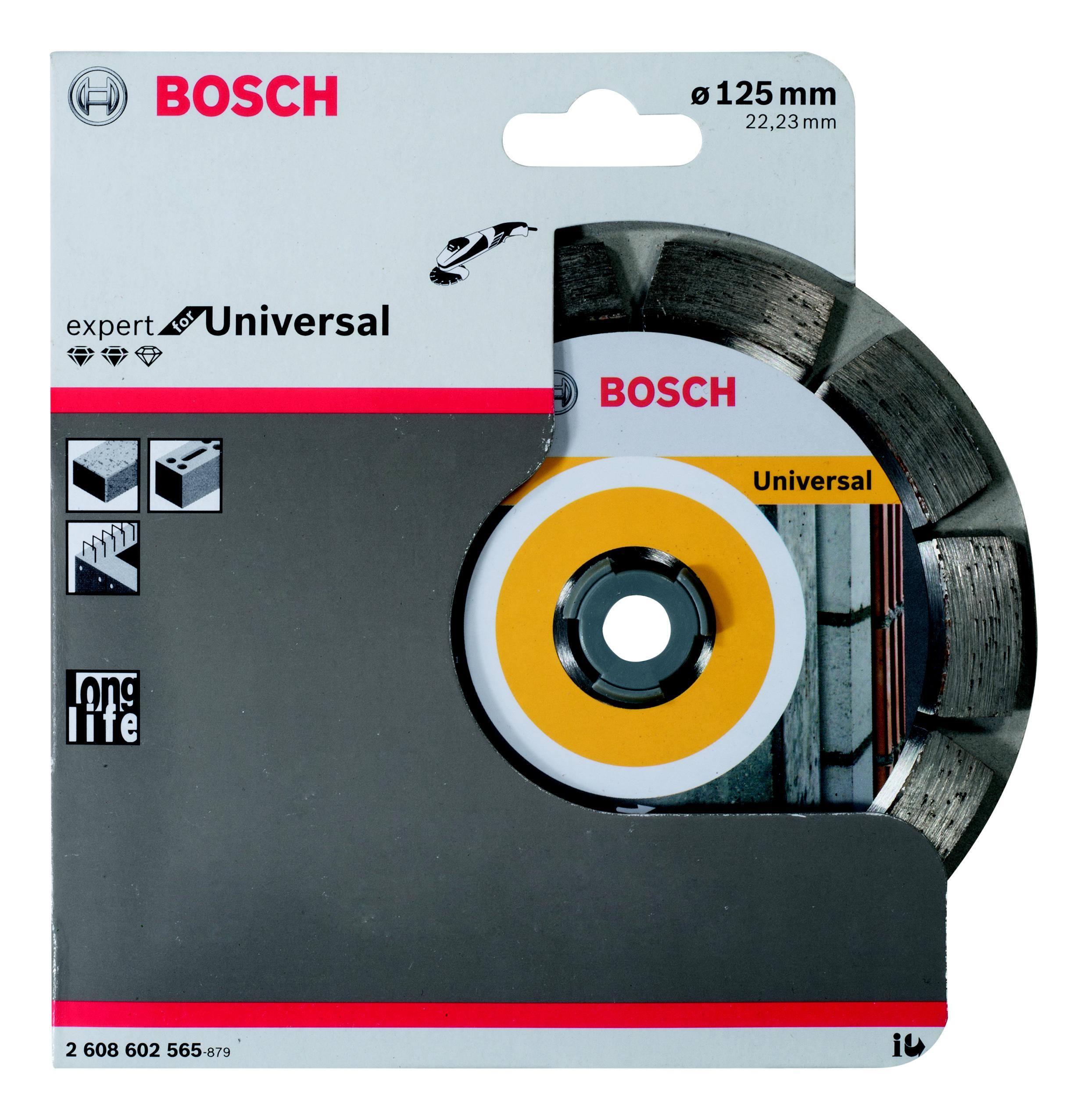 Круг алмазный Bosch Expert for universal 125x22 сегмент (2.608.602.565) 1000pcs universal viton oring seals gb3 100 asnu08c for universal bosch fuel injection injector ay o2012