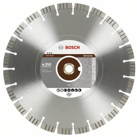 Круг алмазный Bosch Best for abrasive 450x25.4 сегмент (2.608.602.688) круг алмазный тсс 450 premium