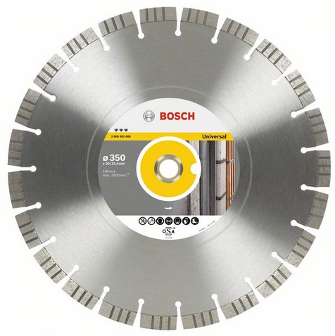 Круг алмазный Bosch Best for universal and metal 300x20/25.4 сегмент (2.608.602.667) bosch best for metal 2608606923
