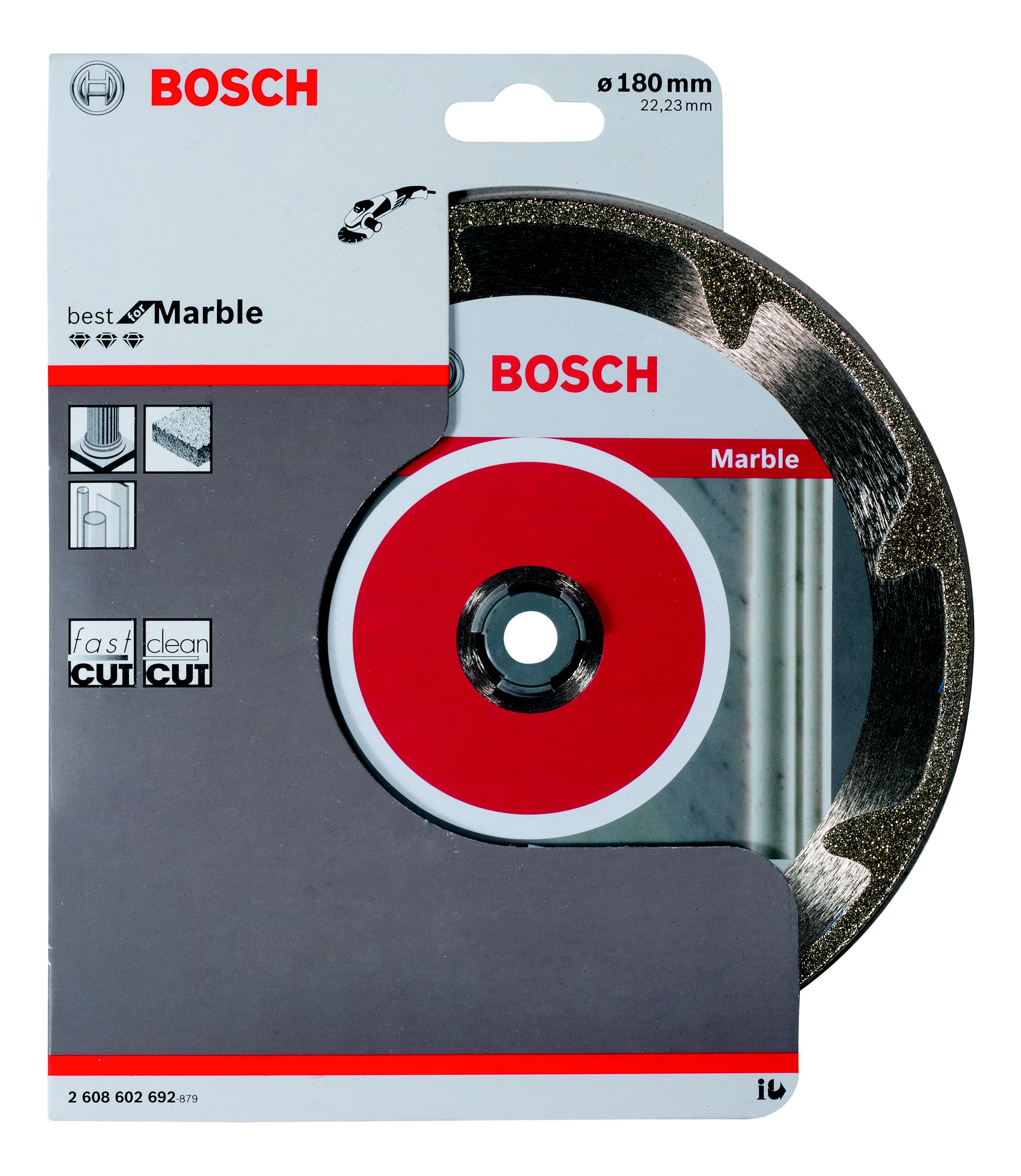 Круг алмазный Bosch Best for marble 180x22 сегмент (2.608.602.692)