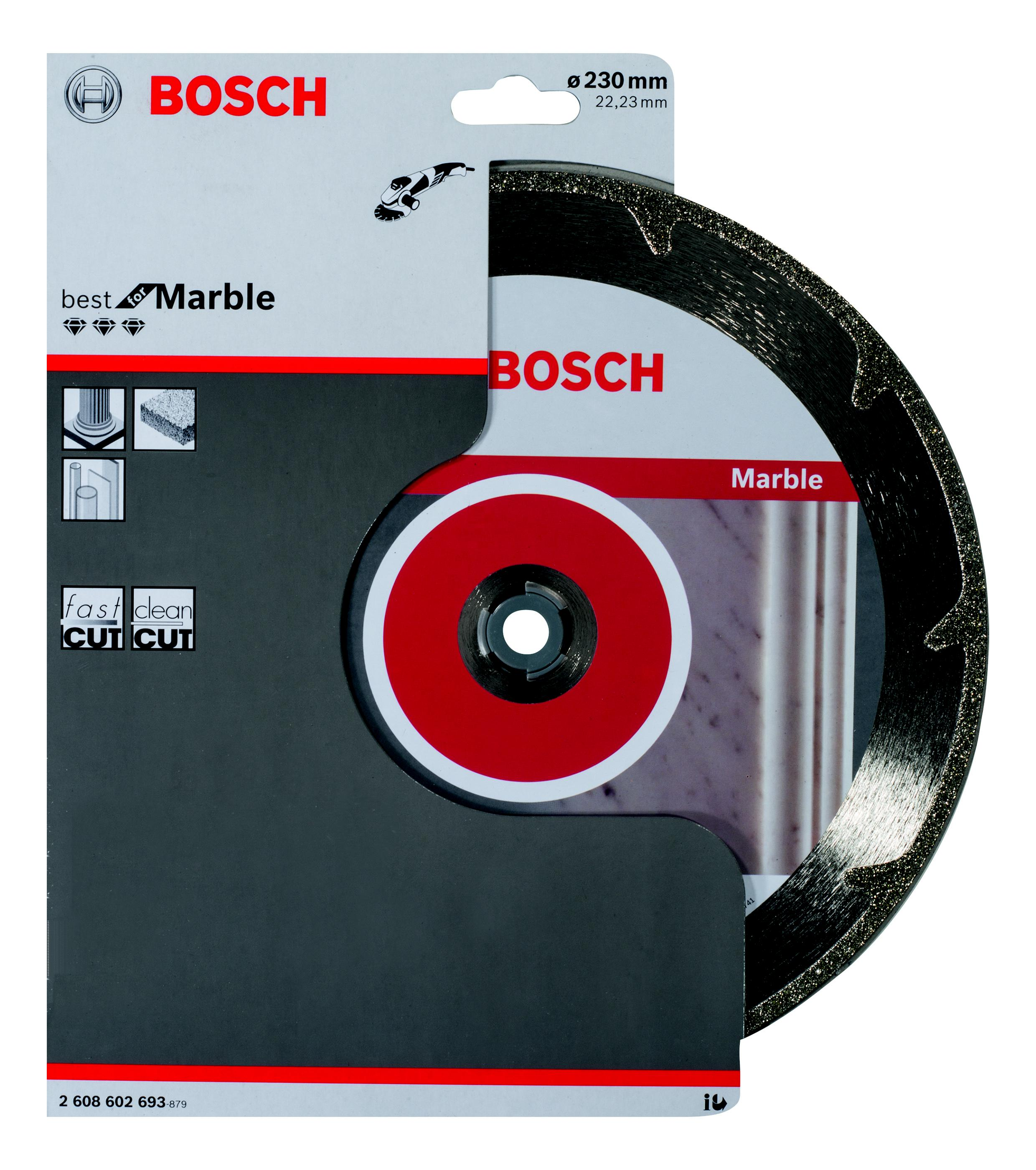 Круг алмазный Bosch Best for marble 230x22 сегмент (2.608.602.693) bosch professional for marble