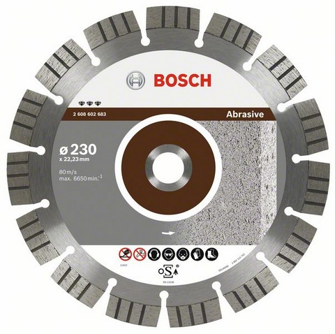Круг алмазный Bosch Best for abrasive 115x22 сегмент (2.608.602.679) круг отрезной hammer flex 115 x 1 0 x 22 по металлу и нержавеющей стали 25шт