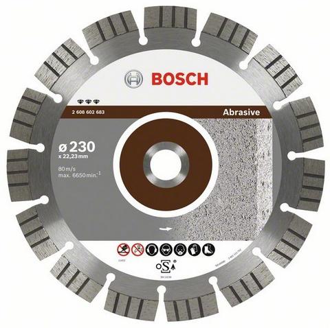 Круг алмазный Bosch Best for abrasive 230x22 сегмент (2.608.602.683) шлифовальная машина bosch gss 230 ave professional