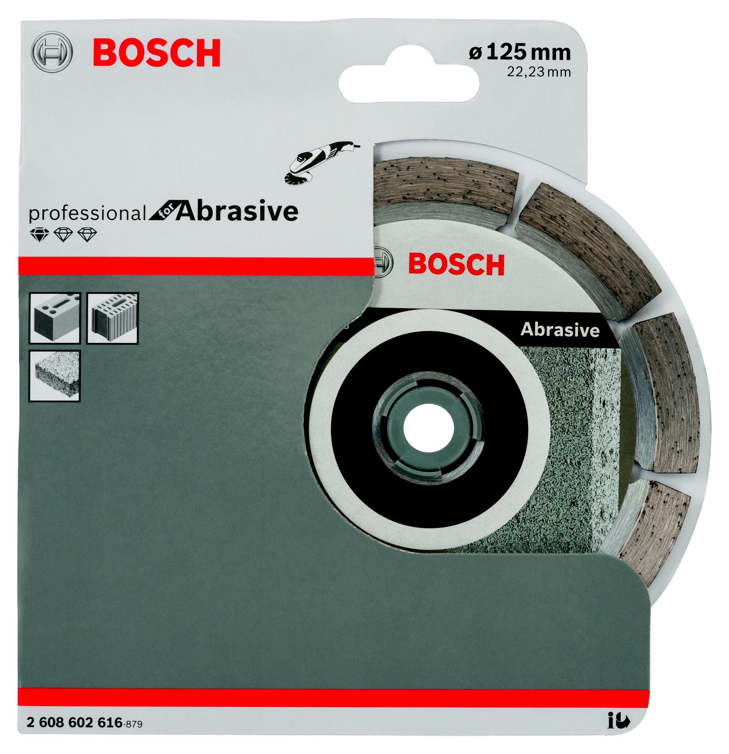 Круг алмазный Bosch Standard for abrasive 125x22 сегмент (2.608.602.616) круг алмазный bosch best for concrete 125x22 сегмент 2 608 602 652