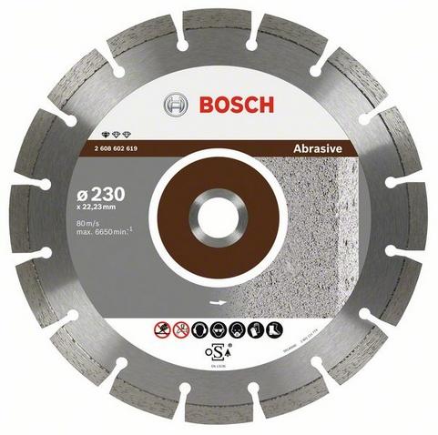 Круг алмазный Bosch Standard for abrasive 230x22 сегмент (2.608.602.619) шлифовальная машина bosch gss 230 ave professional