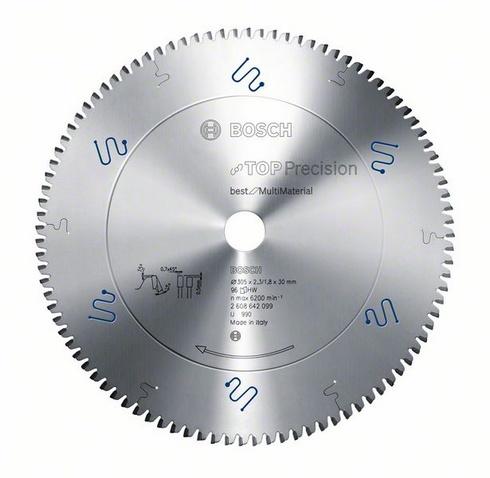 Диск пильный твердосплавный Bosch Top precision best for multi material 254x80x30 (2.608.642.098) диск пильный bosch 254х30мм 80зубьев top precision best for multi material 2 608 642 098