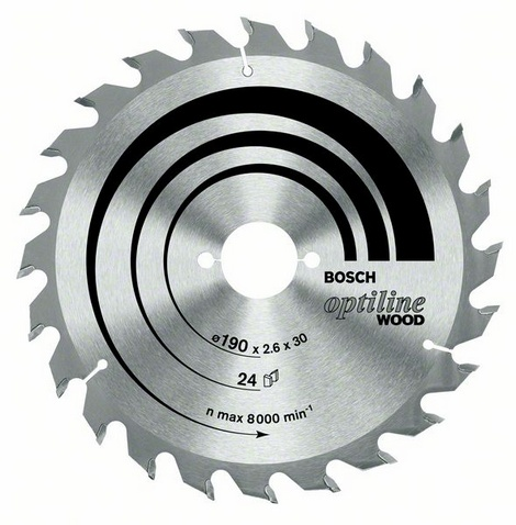 Диск пильный твердосплавный Bosch Optiline wood 216x60x30 (2.608.640.433) диск пильный bosch 190х20мм 36зубьев optiline wood 2 608 640 613