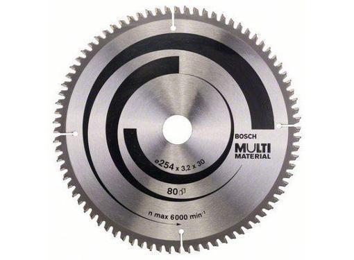Диск пильный твердосплавный BOSCH Ф254х30мм 80зуб. (Multi Material GCM 10 2608640450)