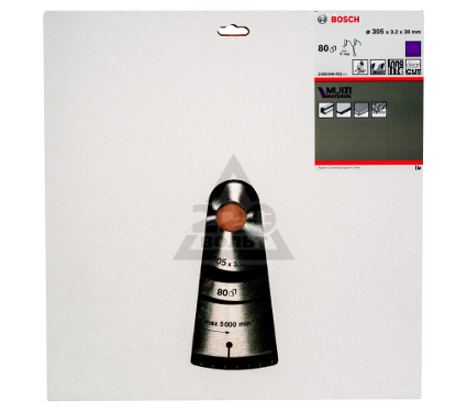 Диск пильный твердосплавный BOSCH Multi Material 305x80x30 GCM 12 (2.608.640.452)