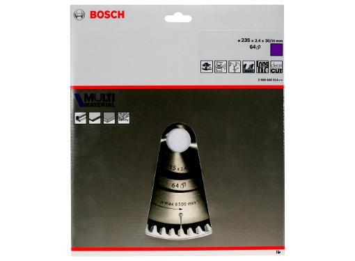 Диск пильный твердосплавный BOSCH Ф235х30мм 64зуб. (Multi Material 2608640514)