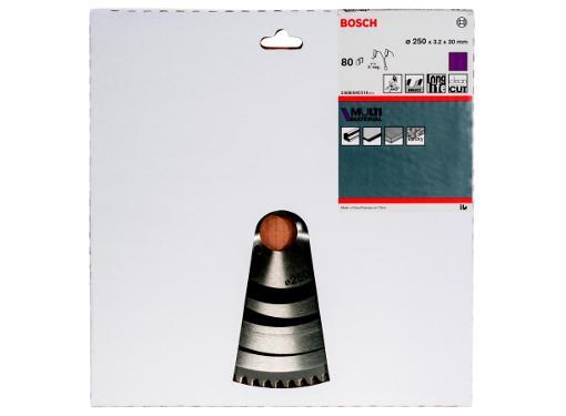 Диск пильный твердосплавный BOSCH Ф250х30мм 80зуб. (Multi Material 2608640516)