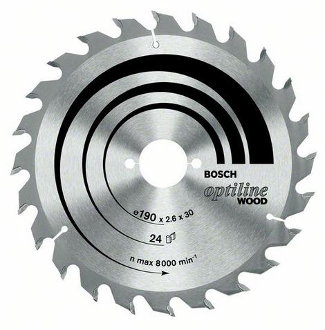 Диск пильный твердосплавный Bosch Optiline wood 190x36x20/16 (2.608.640.613) диск пильный твердосплавный bosch optiline wood 305x60x30 gcm 12 2 608 640 441