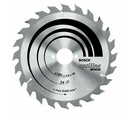 Диск пильный твердосплавный BOSCH Ф230х30мм 24зуб. (Optiline Wood 2608640627)