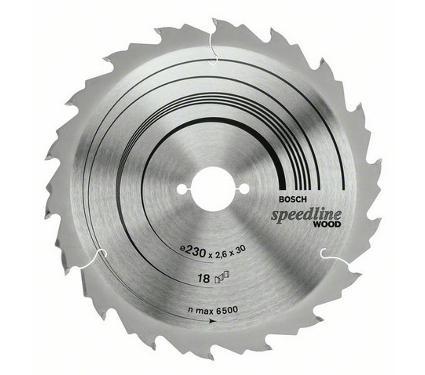 Диск пильный твердосплавный BOSCH Ф190х30мм 24зуб. (Speedline Wood 2608640801)