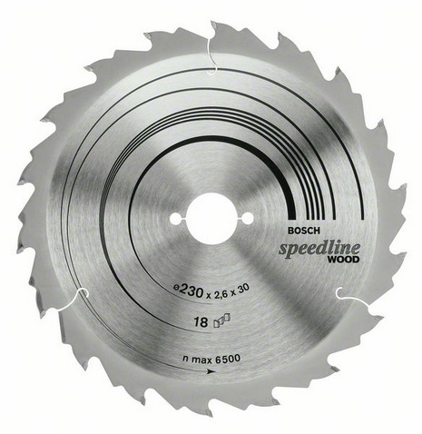 Диск пильный твердосплавный Bosch Speedline wood 230x18x30 (2.608.640.804) шлифовальная машина bosch gss 230 ave professional