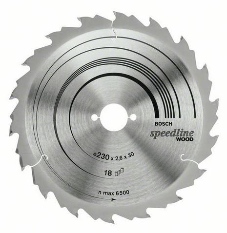 Диск пильный твердосплавный Bosch Ф230х30мм 30зуб. (speedline wood 2.608.640.805)