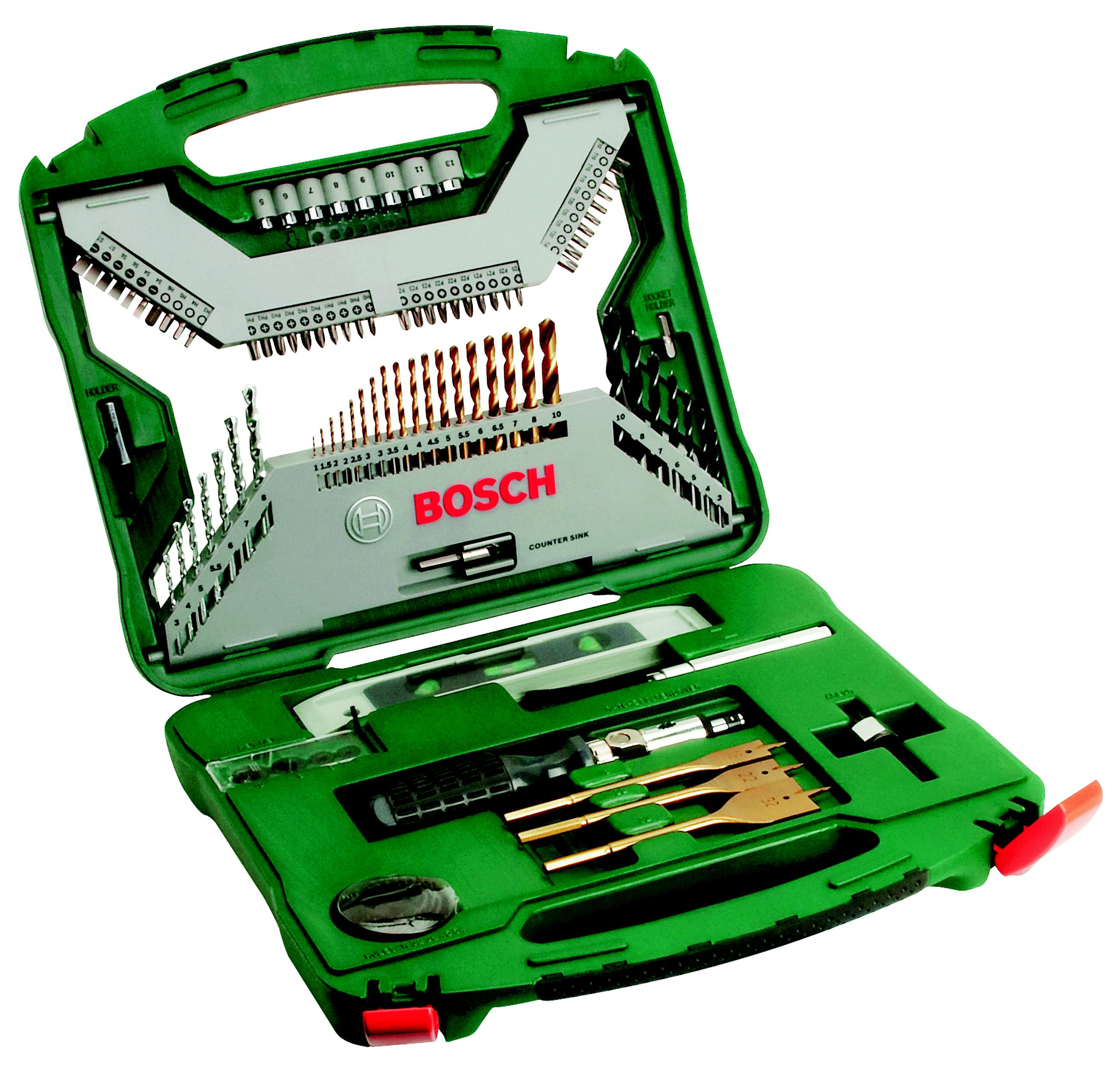 Набор бит и сверл Bosch X-line 100 titanium (2.607.019.330) набор сверл bosch x line 100 100 предметов 2607019330