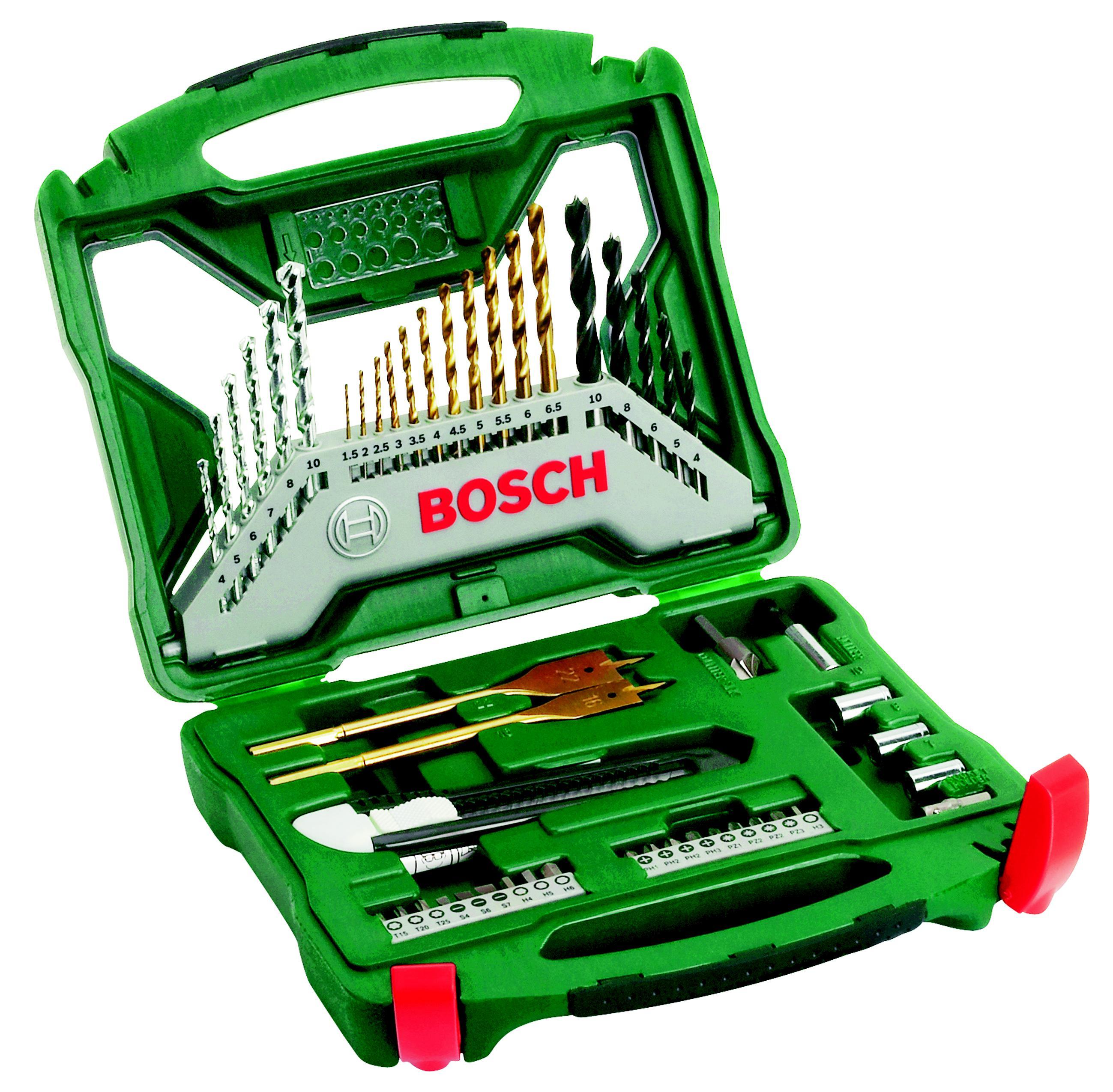 цена на Набор бит и сверл Bosch X-line 50 titanium (2.607.019.327)