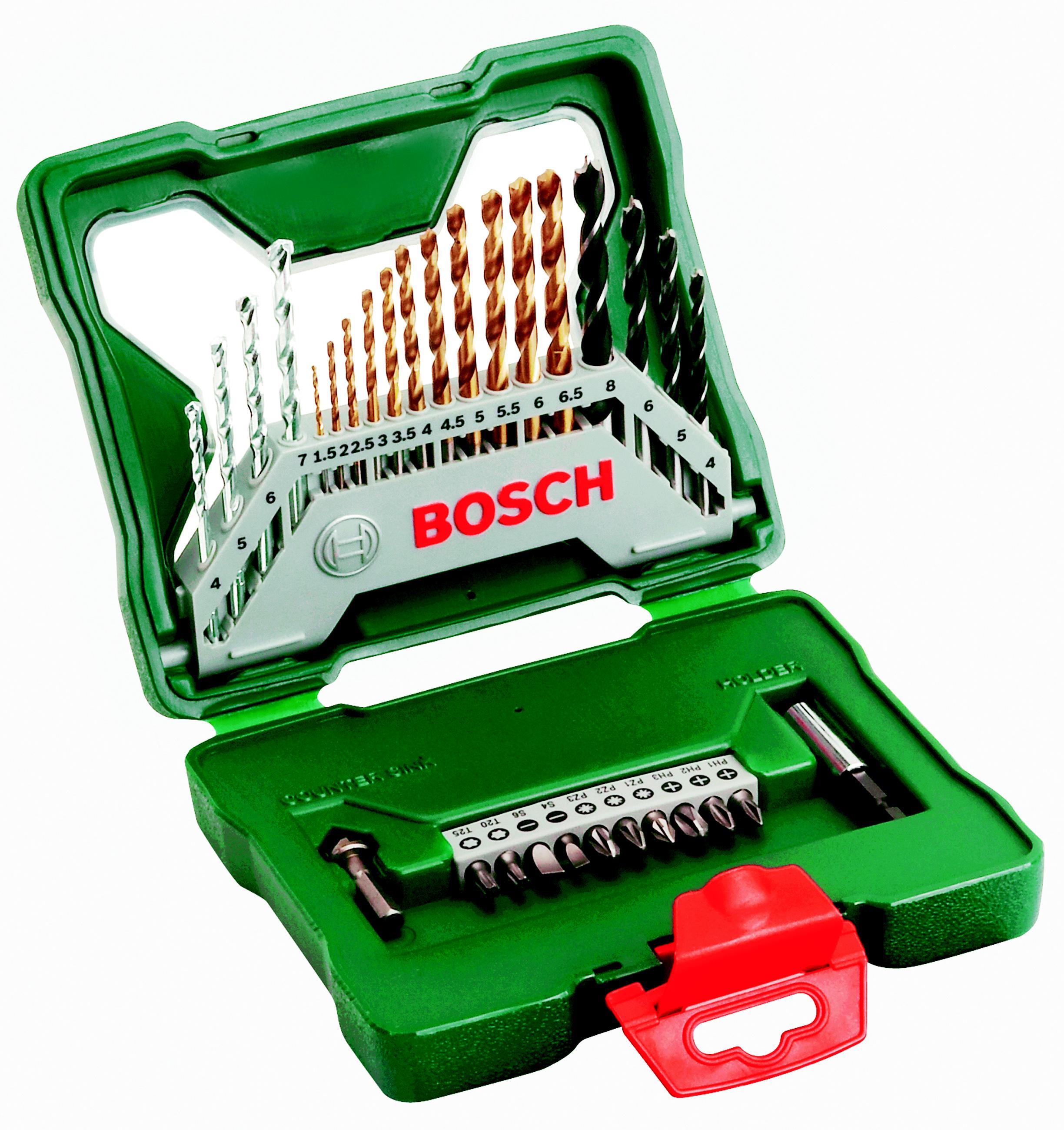 Набор бит и сверл Bosch X-line 30 titanium (2.607.019.324) цена и фото