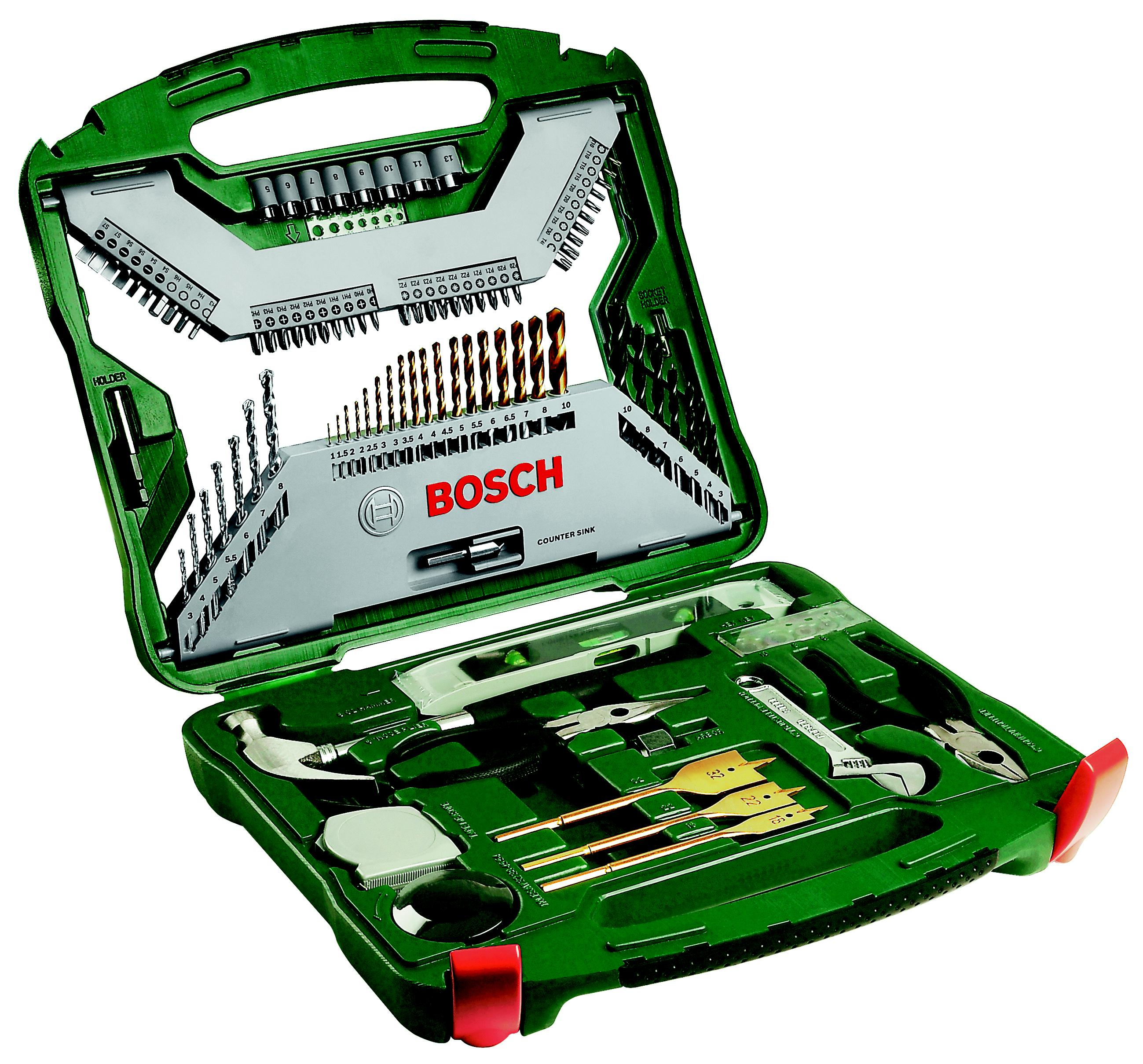 Набор инструментов Bosch X-line 103 titanium (2.607.019.331) набор инструмента bosch x line 103 2607019331