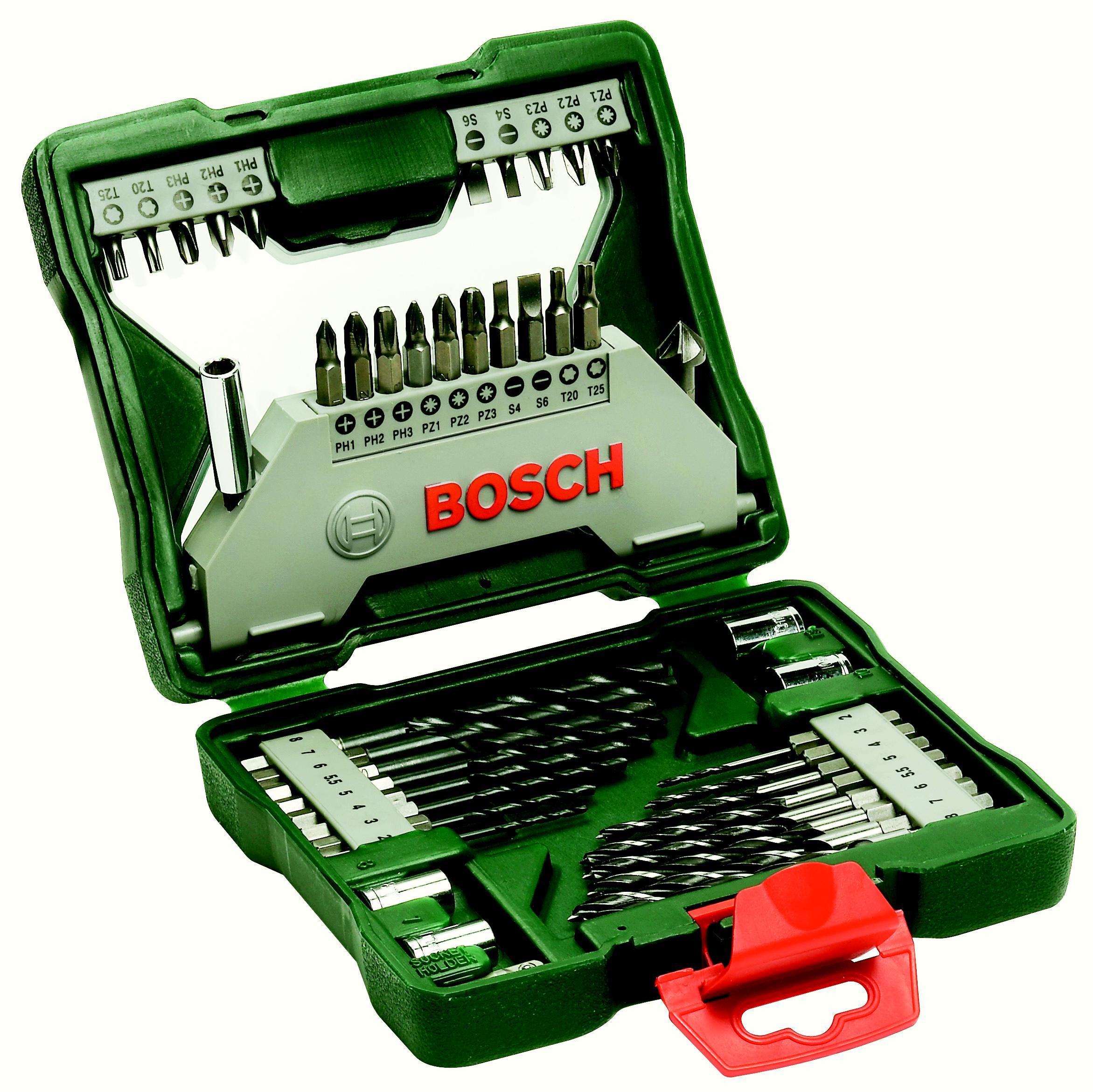 Набор бит и сверл Bosch X-line 43 шестигранный (2.607.019.613) набор инструмента bosch x line 103 2607019331