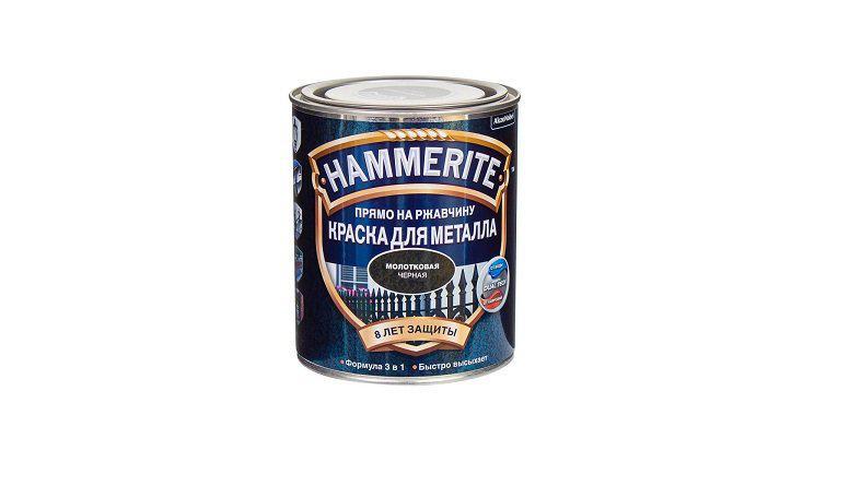 Краска Hammerite молотковая черная 0,75 л