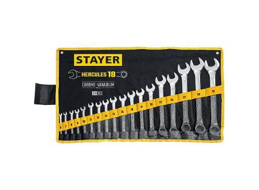 Набор ключей комбинированных STAYER 27081-H18_z01