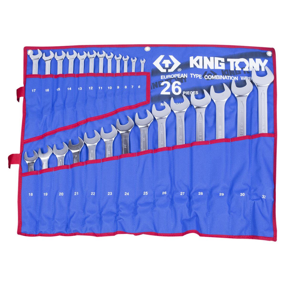 цена на Ключ комбинированный King tony 1226mrn