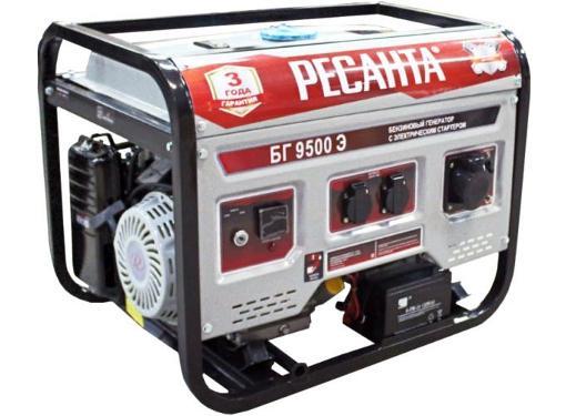 Бензиновый резервный генератор РЕСАНТА БГ 9500 Э 64/1/49