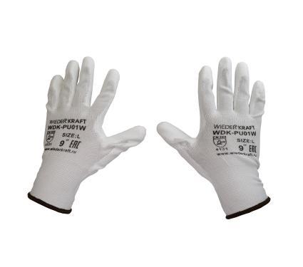 Легкие нейлоновые перчатки WIEDERKRAFT WDK-PU01W/XL