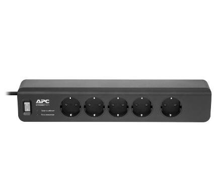 Удлинитель APC PM5B-RS 553100 1.83 м 5гнезд 220В 10А заземление черный