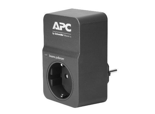 Сетевой фильтр APC PM1WB-RS 553101 1гнездо 220В 16А заземление черный