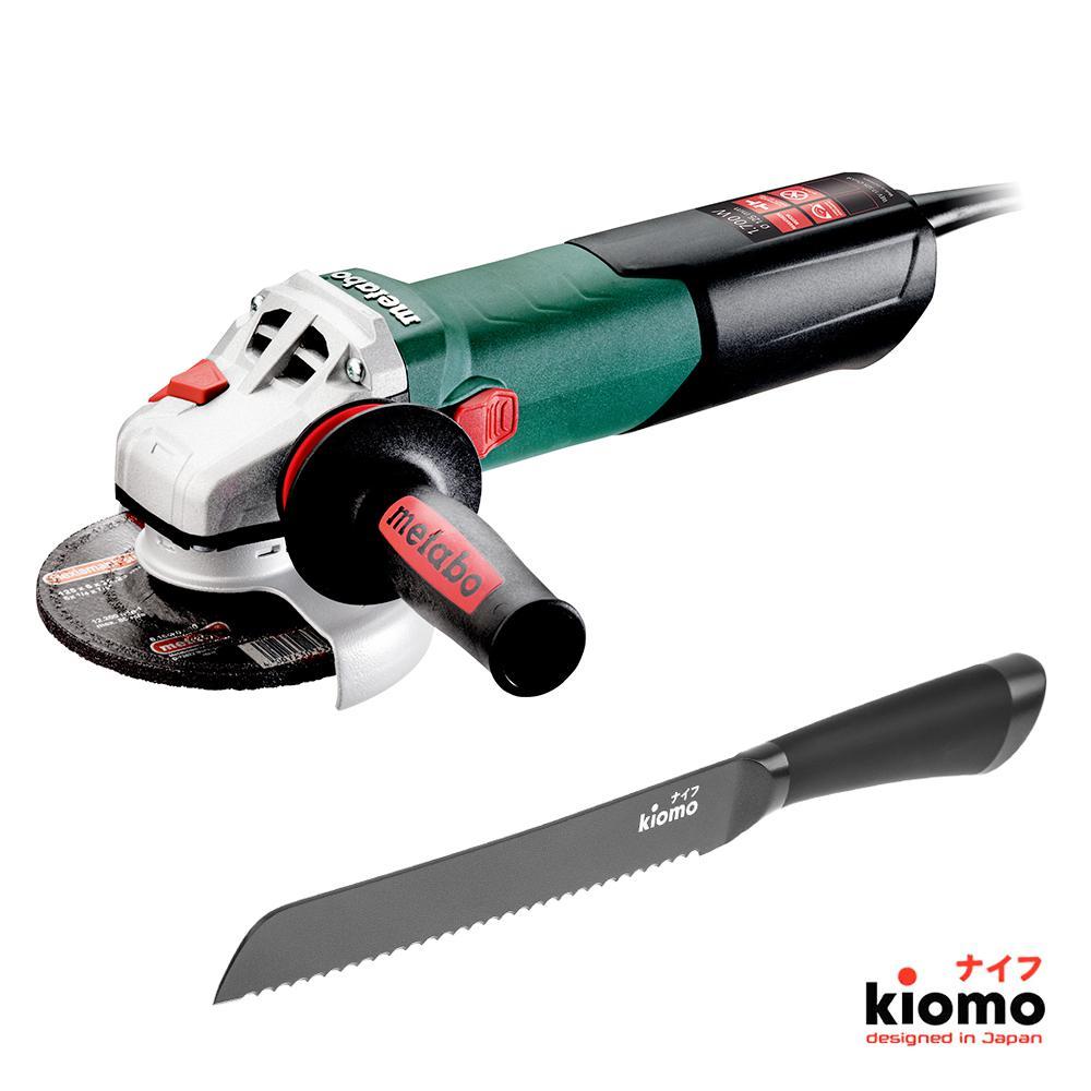 Набор Metabo УШМ (болгарка) wev 17-125 quick (600516000) + Японский нож kiomo