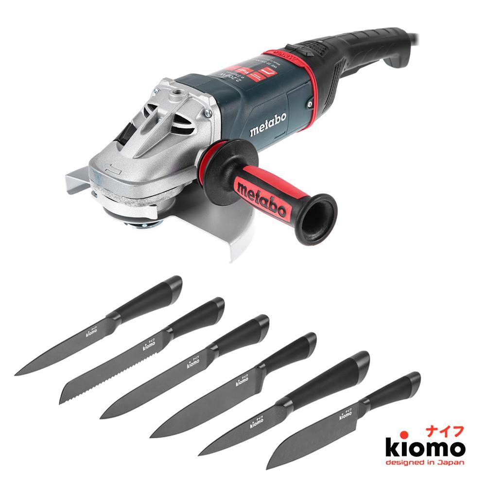 Набор Metabo УШМ (болгарка) we22-230mvt (606464000) + шесть Японских ножей kiomo сумка afina afina af004bwssy21