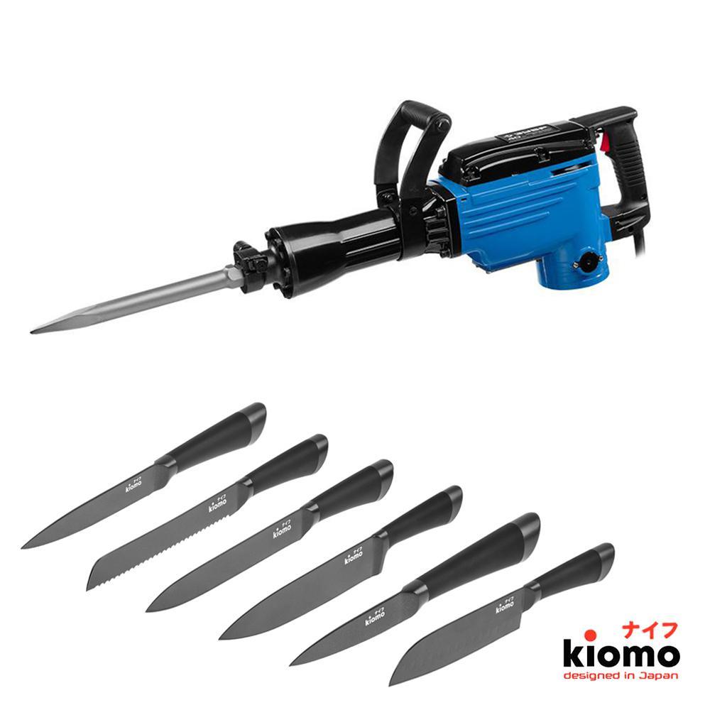 цена на Набор ЗУБР Отбойный молоток ЗМ-40-1700 К + шесть Японских ножей kiomo