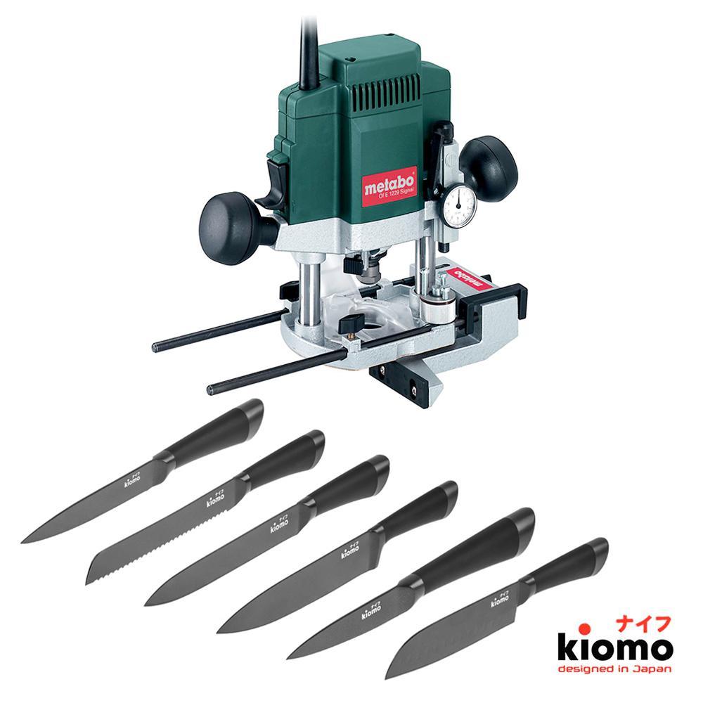 Набор Metabo Фрезер of e 1229 signal (601229000) + шесть Японских ножей kiomo