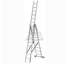 Лестница алюминиевая приставная 3 х секционная KRAUSE TRIBILO 3х9