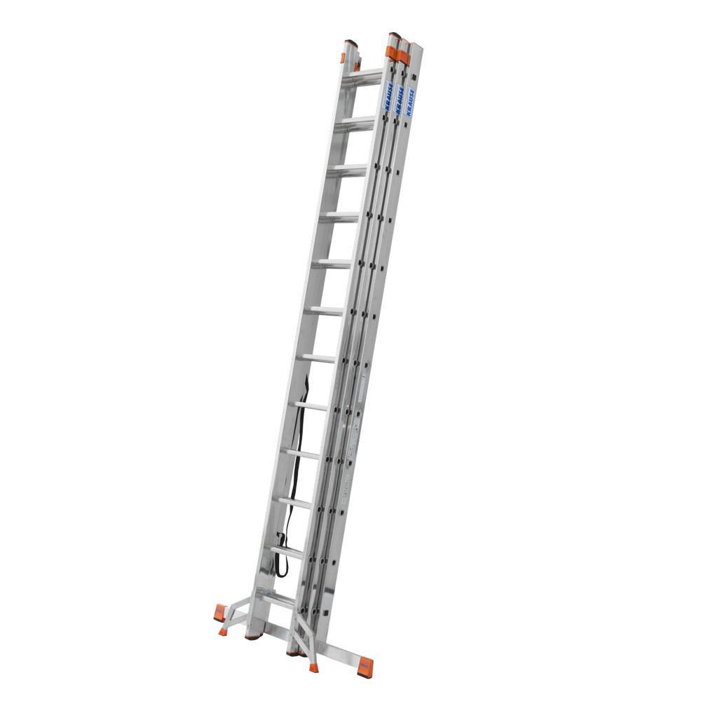 Лестница алюминиевая складная 3 х секционная Krause Tribilo 120625 лестница новая высота 3 х секционная профессиональная 3х15