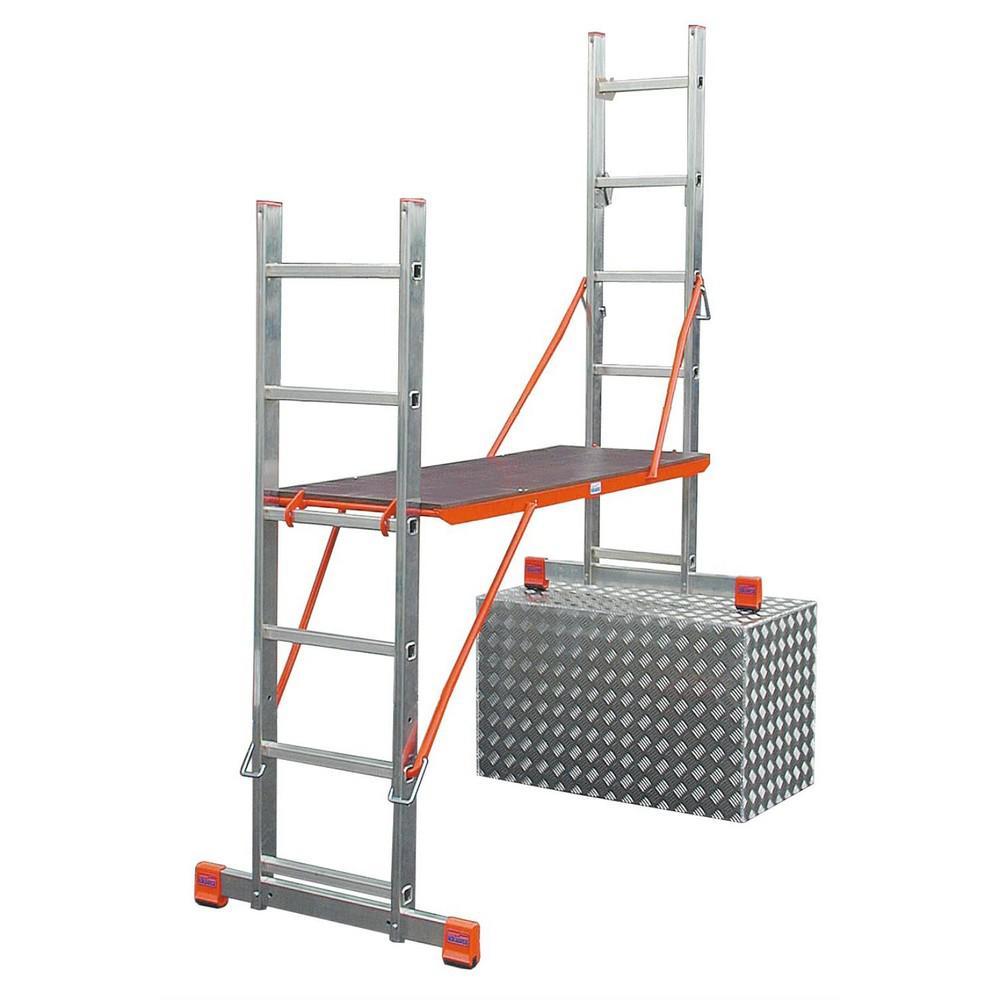 Лестница алюминиевая приставная Krause Variotop 121370 лестница алюминиевая 6 м купить