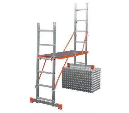 Лестница алюминиевая приставная KRAUSE VARIOTOP 2х6