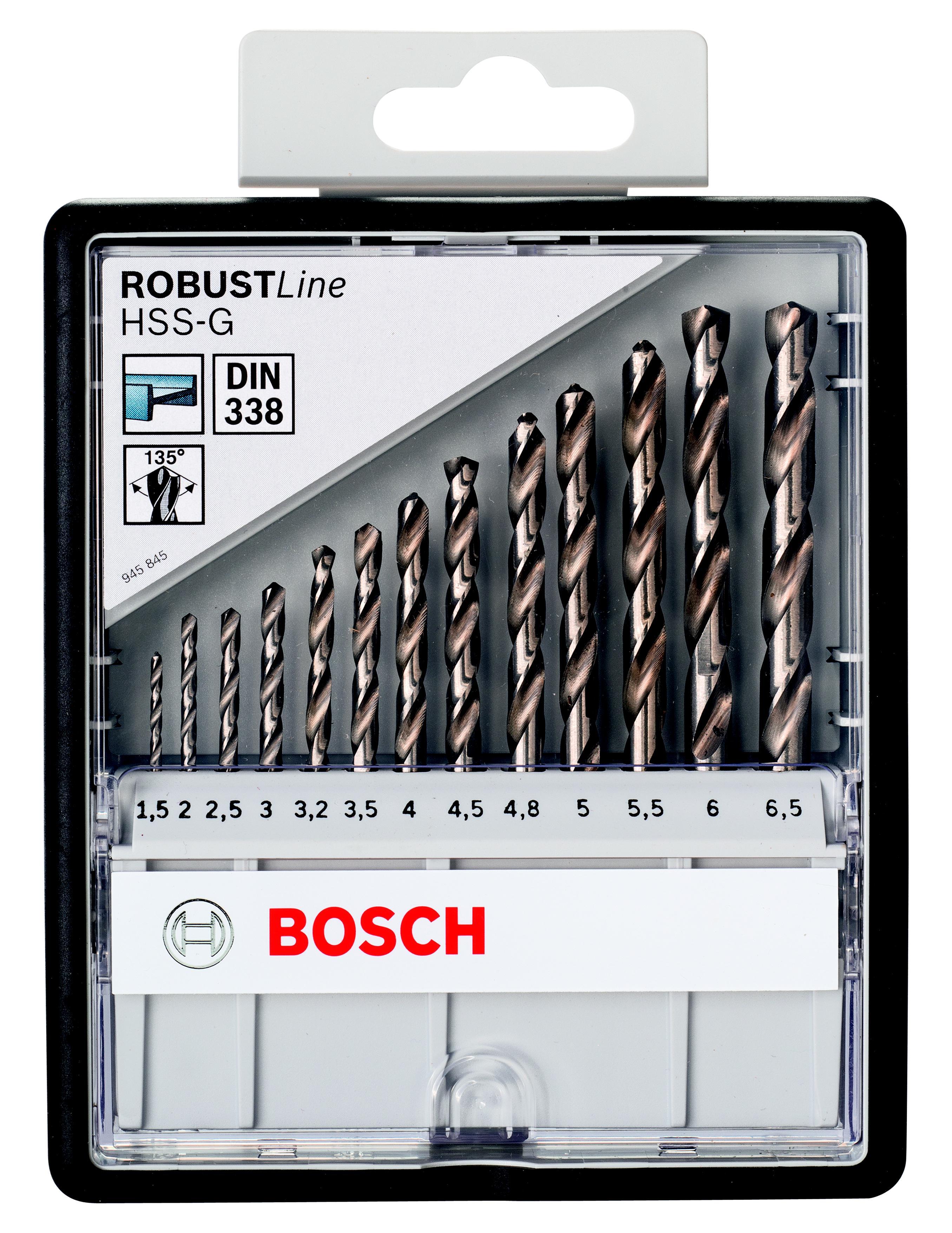Набор сверл Bosch Robust line hss-g 13 шт. (2.607.010.538) пила дисковая bosch gks 55 g 601682000
