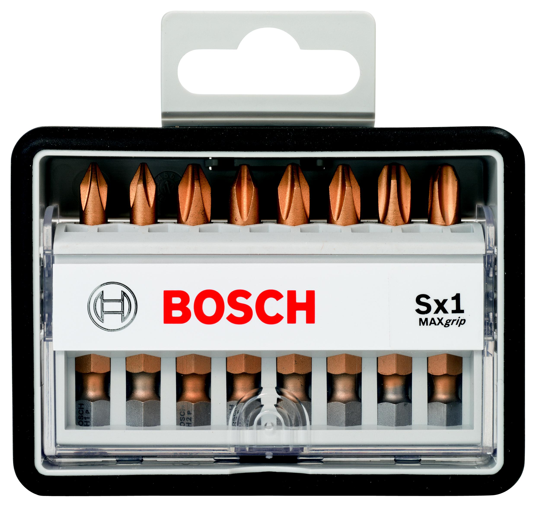 Набор бит Bosch Robust line max grip ph1/ph2/ph3 49 мм, 8 шт. (2.607.002.570) набор бит и сверел bosch x line 70 2607019329879