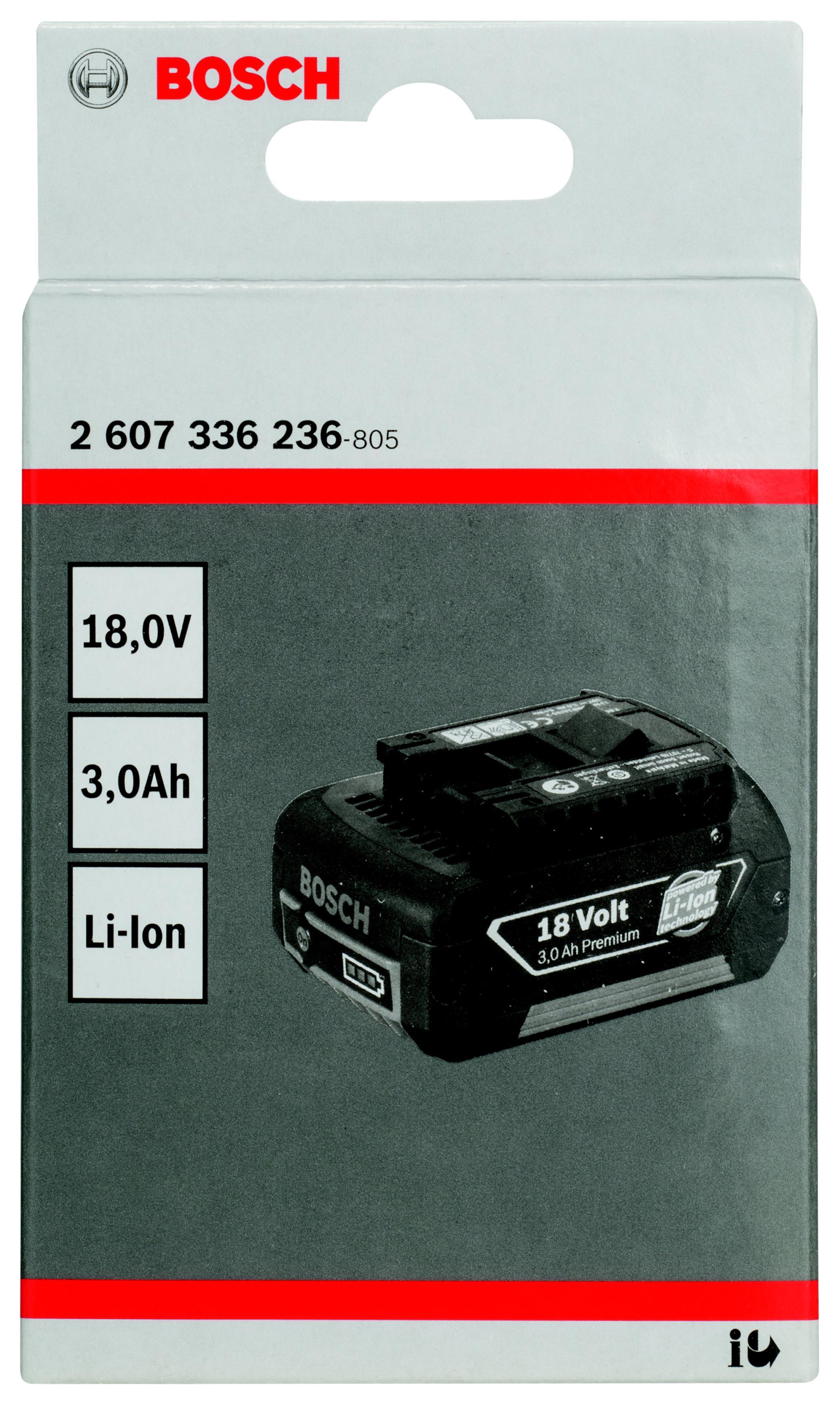 Аккумулятор Bosch 18.0В3.0Ач (2.607.336.236)