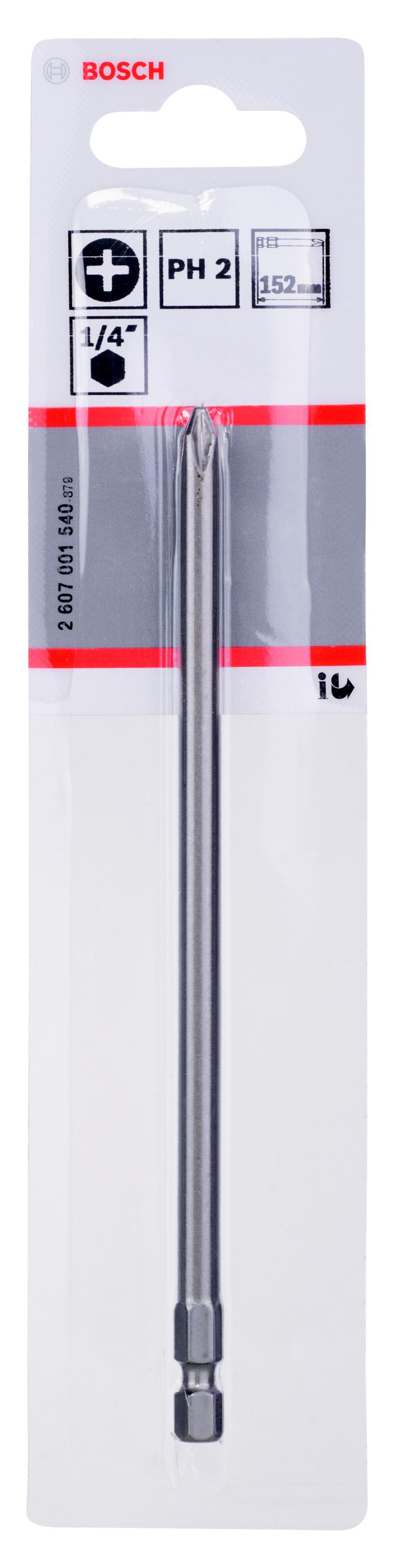 Бита Bosch Extra-hart ph2 152 мм, 1 шт. (2.607.001.540) бита ph2 152 мм bosch профи