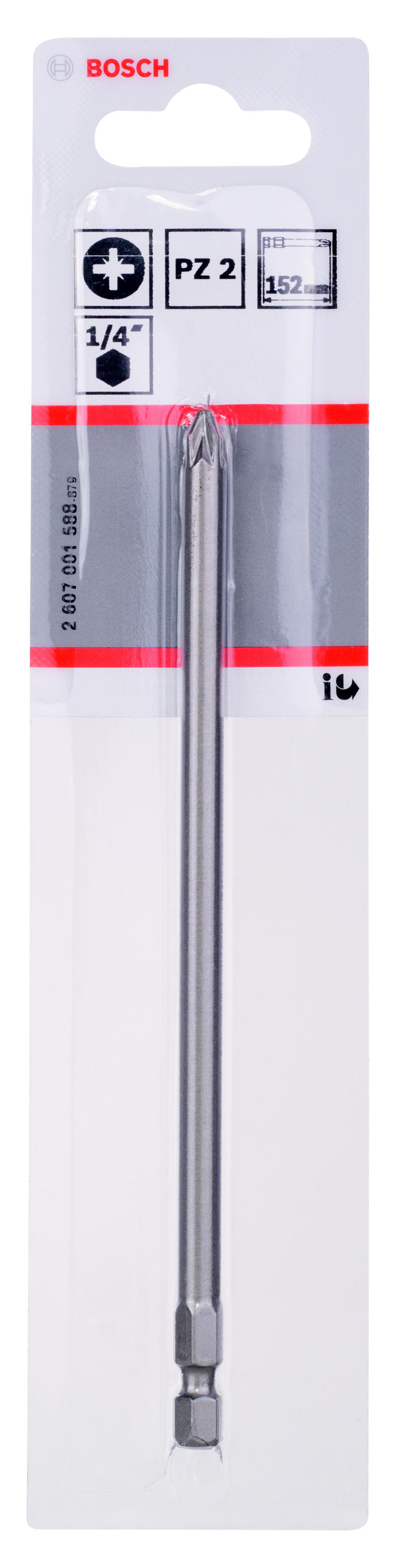 Бита Bosch Extra-hart pz2 152 мм, 1 шт. (2.607.001.588) цена
