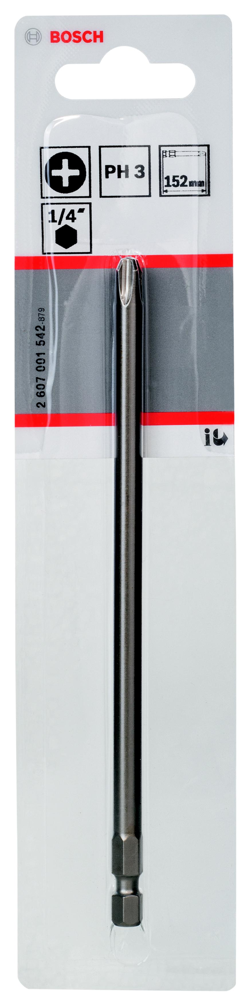 Бита Bosch Extra-hart ph3 152 мм, 1 шт. (2.607.001.542)