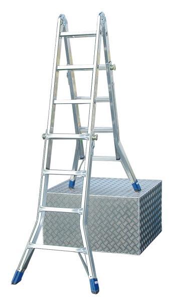 Лестница алюминиевая шарнирная с перекладинами Krause Stabilo 123572 лестница алюминиевая 6 м купить