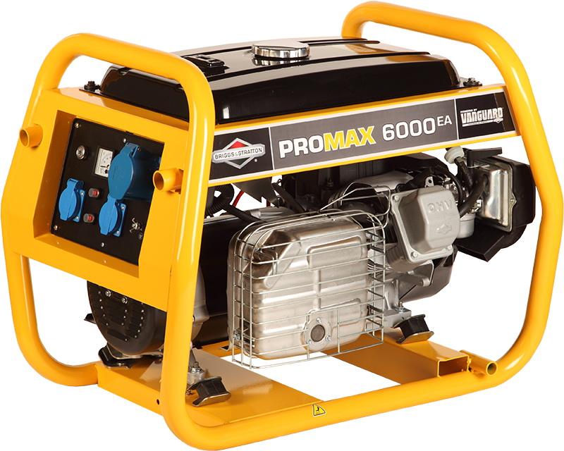 Бензиновый генератор Briggs & stratton Promax 6000 ea генератор бензиновый eurolux g2700a