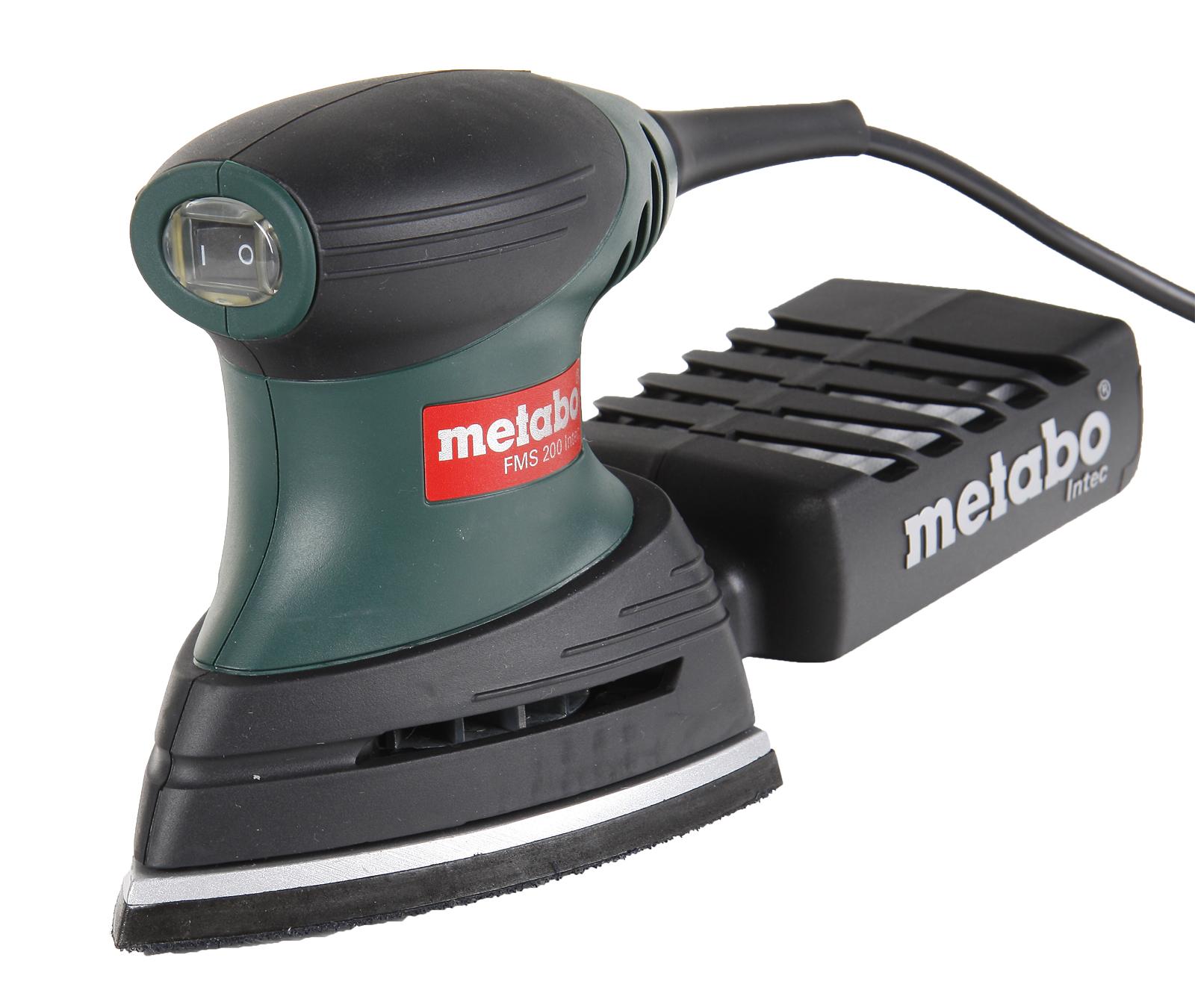 Машинка шлифовальная дельта Metabo Fms 200 intec (600065500) metabo fsx 200 intec
